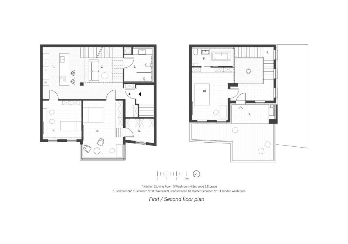 First / Second floor plan
